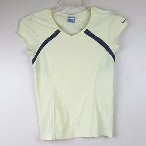 Nike Fit Dry Women's Yellow with Brown Top Sz S